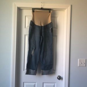 Indigo blue jeans maternity